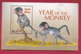 RSA, 2004, MNH Block (miniature Sheet) , Year Of The Monkey,  Sa 1604, #9016 - South Africa (1961-...)