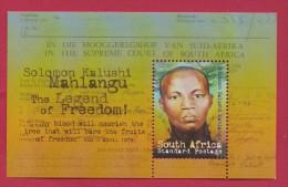 SOUTH AFRICA, 2009, MNH Block (miniature Sheet) , Solomon Kalushi,  Sa 1974, #9027 - South Africa (1961-...)