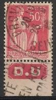 Timbre à Bande Publicitaire Type Paix II 50c Rouge N° 283. Pub Publicité Réclame Carnet - Advertising