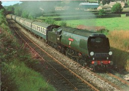 "Postcard - 4-6-2 No. 34092 ""City Of Wells"" West Country Class Pacific Ex. B.R., Railway. 6-04-67-44 - Eisenbahnen"