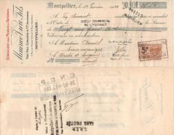 FRANCE Avec 1 Timbre Fiscal MANDAT Ets CAMBON 10 Mai 1924 => St André De Sangonis (Hérault) - Revenue Stamps