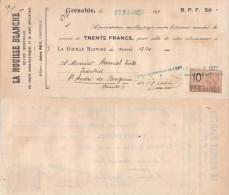 FRANCE Avec 1 Timbre Fiscal MANDAT LA HOUILLE BLANCHE 28 Mai 1924 => St André De Sangonis (Hérault) - Revenue Stamps