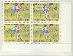 LIECHTENSTEIN Block Of 4 Mint Without Hinge - Coppa Del Mondo