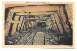 Anthracite Coal Mine Entrance Vintage Linen Postcard Scranton PA - United States