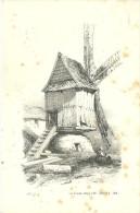 Gravure Lithographie Moulin A Vent Verlag Wilhelm Hermes Berlin - Estampes & Gravures