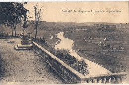 -24- DOMME  Promenade Et Panorama Sur La Dordogne  Timbrée TTBE - Autres Communes