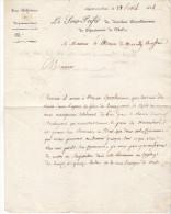 10 Nogent Sur Seine- Lettre Du Ss Prefet De Nogent De 1814 ( Campagne De France) Au Maire De MarcillyS/Seine - Documents Historiques
