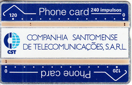 SAO TOME & PRINCIPE - CST Logo, First Issue 240 Units, Tirage 5000, CN : 112K, Used - São Tomé Und Príncipe