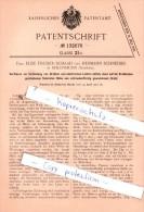 Original Patent  - Fr. Elise Fischer-Schaad Und Hermann Schneider In Solothurn , Schweiz , 1901 , !!! - Documents Historiques