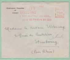 Fr10. EMA  C. 2132  VICHY Celestins L´eau Qui Fait Du Bien.  23.2.54 - Marcophilie (Lettres)