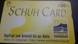 Austria-(f263)-schuh Card-(712l)-(20units)-tirage-6.310+1card Prepiad Free - Austria