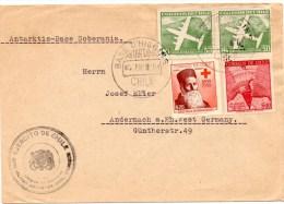 Lettre De Base O'Higgins (05.01.1961)_Soberania_pour Andernach_croix Rouge_Dunant - Chili