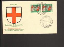 BRD 1957 500 Jahre Universität Freiburg I.Br. FDC Umschlag - [7] Federal Republic