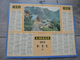 Calendrier  PTT 1965 - Allemont ( Isère ) Chalets Village Montagne - Non Classés