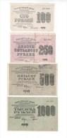 Russia / 1919 100 250 500 1000 Rubles Denomination Taken - Russia