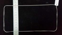 Chaine Argent Mailles Plates Anglaises, Contemporain - Kettingen