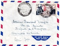 Lettre  De  A.e.f.  Pour  La  France  1954 - Poste Aérienne