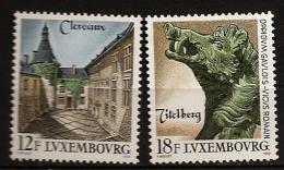 Luxembourg 1989 N° 1180 / 1 ** Tourisme, Clervaux, Château, Titelberg, Sculpture, Bronze, Tête De Sanglier, Dent, Lierre - Luxemburg