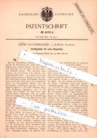 Original Patent  - Jakob Haggenmacher In Zürich , Schweiz , 1888 , Weberei !!! - Documents Historiques