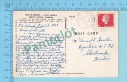 """North Sydney ( RPO Cover  St. John's & Port Aux Basques,  """" ST. JS, & PAB. RPO"""" New Foundland 1965 ) 2 Scans - 1952-.... Règne D'Elizabeth II"""