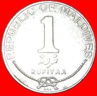 ★STAR AND CRESCENT: MALDIVES ★ 1 RUFIYAA 1402 1982!  LOW START★NO RESERVE! - Maldive