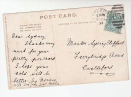 1904  GB Stamps COVER  CASTLEFORD C31 Duplex Pmk (postcard Ellens Isle Loch Katrine) Evii E7 - 1902-1951 (Reyes)