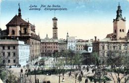 LEMBERG LWÖW Heiligengeistplatz K.u.K. Militärzensur Militärtransport 1917 Ecke Bestossen - Polen