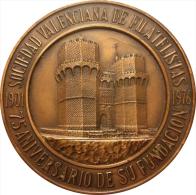ESPAÑA. MEDALLA DE LA SOCIEDAD VALENCIANA DE FILATELISTAS. 1.976 - Profesionales/De Sociedad