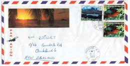 POLYNESIE - AIR MAIL COVER TO N.ZEALAND 1982/ THEMATIC STAMPS-FISH (PLECTROPOMUS LEOPARDUS) - Polinesia Francese