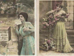 FANTAISIE(FEMME) LOT DE 2 CARTES - Mujeres
