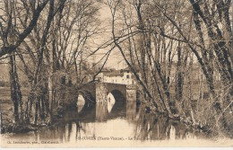 ST JUNIEN - Le Pont Ste Elisabeth sur la Glane  tr�s belle carte peu courante  �crite TTB