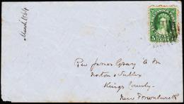 1864. NEW BRUNSWICK POSTAGE FIVE CENTS VICTORIA WO KINGSTON KENT MR7 1864 + SUSSEX VALE... (Michel: ) - JF192897 - Canada