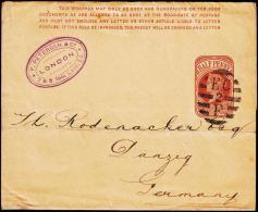 1898. HALF PENNY WRAPPER EC 2 F. DANZIG GERMANY.  (Michel: ) - JF192940 - Vari