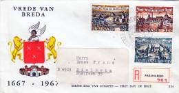 Reco Brief SURINAME 3 Sondermarken Auf First Day Cover 1967 - Suriname