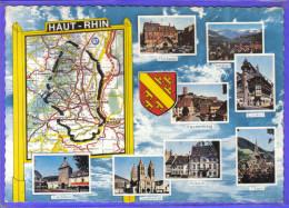 Carte Postale 68. Département Du Haut-Rhin    Trés Beau Plan - Carte Geografiche