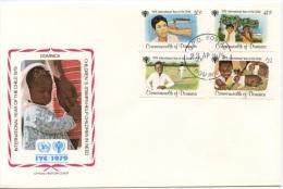 Dominica, 1979, International Year Of The Child, FDC, Michel 625-628 - Dominique (1978-...)