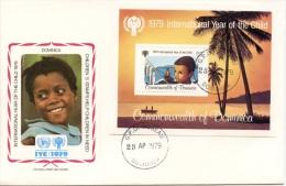 Dominica, 1979, International Year Of The Child, FDC, Michel Block 55 - Dominique (1978-...)