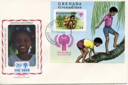 Grenada Grenadines, 1979, International Year Of The Child, FDC, Michel Block 42 - Grenada (1974-...)