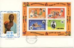 Tanzania, 1979, International Year Of The Child, FDC, Michel Block 18 - Tanzania (1964-...)
