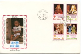St Lucia, 1979, International Year Of The Child, FDC, Michel 462-465 - St.Lucie (1979-...)