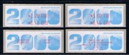 ATM, 2.70 FRF/ 0.41 EUR, 3.00 FRF/ 0.46 EUR, Sans Mention, 2ème Biennale Philatélique Paris, 2 RECUS 26/02/2000. - 1999-2009 Viñetas De Franqueo Illustradas