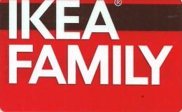 CUSTOMER CARD * LOYALTY CARD * IKEA FAMILY * STORE * TRANSPARENT * IKEA Family Atlatszo 2013 * Hungary - Andere