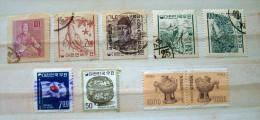 South Korea 1958 - 1980 Ginseng Root Ceramic Horse Flag Rice - Korea (...-1945)