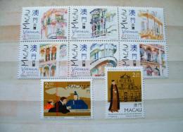 Macau 1997 - Mint Houses Buildings Paintings - Gebraucht