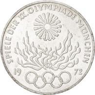 GERMANY - FEDERAL REPUBLIC, 10 Mark, 1972, Karlsruhe, KM:135, SPL, Silver - [ 7] 1949-…: BRD