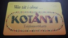 Austria-(f280)-kotanyi-(802l)-(20units)-tirage-1.010+1card Prepiad Free - Austria