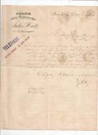 Lettre Commerciale , Peaux Pour Chaussures , JULES HIRTZ , Paris , 1896 - Invoices & Commercial Documents
