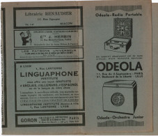 PROTEGE LIVRE ODELA RADIO PORTABLE LIBRAIRIE RENAUDIER MACON J. HERBIN PARIS GORON DETECTIVE PARIS BAUCHE LYON GOLS STAR - Protège-cahiers