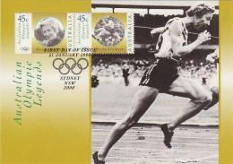 Australia-1998 Olympic Legends Shirley Strickland  Gold Medal 1956 Melbourne Games    Maximum Card - Maximum Cards