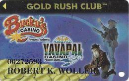 Bucky´s & Yavapai Casinos Prescott AZ - 3rd Issue Slot Card - No S In Web Address - Casino Cards